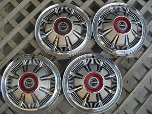4 Vintage Antique 66 67 68 Galaxie Ford Pickup Truck Bronco Hubcaps Wheel Covers