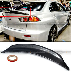 For 08 15 Lancer Evo X 10 Carbon Fiber Rs Style Rear Duck Trunk Wing Lip Spoiler