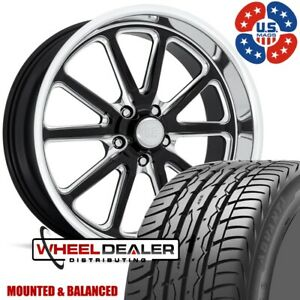 20 Staggered Us Mags Rambler Black Milled Wheels W Tires Chevy Gmc C10 5x5 Bp