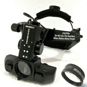 Indirect Ophthalmoscope With 20 D Diopter Lens Accessories Carry Case Medico