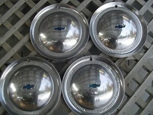 Four Vintage 1953 53 Chevrolet Chevy Impala Bel Air Nomad Wheel Covers Hubcaps