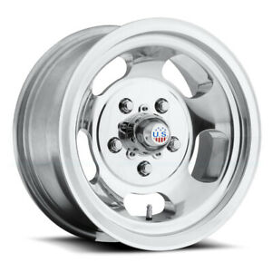15x5 15x7 Polished Wheels Us Mags Indy U101 5x4 5x101 6 12 5 Set Of 4