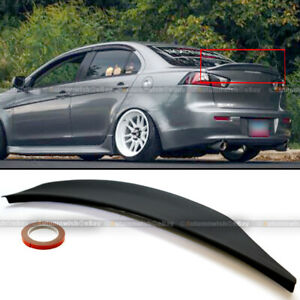 For 08 15 Lancer Evo X 10 Mr Gsr Jdm Rs Style Rear Duck Trunk Wing Lip Spoiler