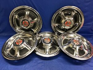Vintage Set Of 4 1968 69 Dodge 14 Hubcaps Charger Coronet Super Bee Rt Mopar