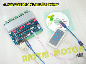 4 Axis Tb6560 Stepper Motor Driver Board Usb Cnc Controller Card manual Control