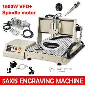 5axis 6040 Router Cnc Metal Engraving Machine Milling Carving Engraver 1500w Us