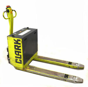 Clark Pw18 24v 4000 lb Electric Pallet Jack Ah 250 6 Builtin charger Walk behind