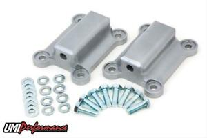 Umi 2323 Solid Motor Mounts Complete Mount Aluminum Anodized Chevy Pontiac Pair