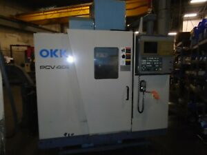Okk Pcv 40 Vertical Cnc Mill 1999 Mitsubishi 600m Control With Tsudakoma Indexer