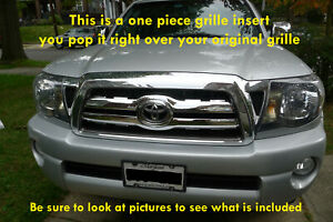Fits 05 2010 Toyota Tacoma Chrome Grille Insert Grill Overlay Trim Molding