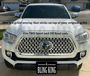 Fits Toyota Tacoma Chrome Grille Insert Grill Overlay Trim Molding 2018 2020