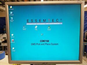 Essemtec Csm7100 Pick And Place Machine Pc Board Chip Pcb Need To Sell Them