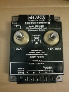Battery Switch Disconnect Solid State 275 Amp Inpower Ssc32 275 W Adj Timer