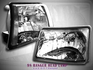 1998 1999 2000 Ford Ranger Xlt Crystal Clear Headlights