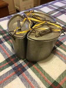 Vtg Chambers Corp Stove Range Trio Pot Kettle Set Thermowell Deep Well Cooking