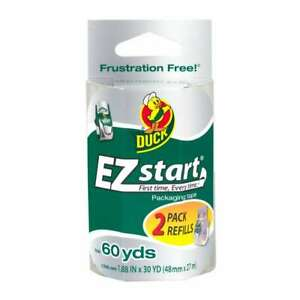 Duck Brand Ez Start Packaging Tape 1 88 In X 30 Yds clear 2 pack