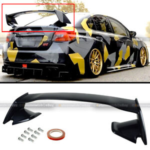 For 15 18 Jdm Wrx Sti Oe Style Glossy Painted Black Abs Rear Trunk Wing Spoiler