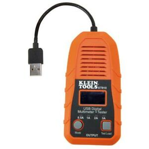 Klein Tools Usb Digital Meter Tester Detector Usb a Type A Electrical Voltage