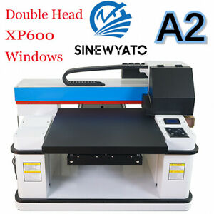 Uv Printer A2 Flatbed Cylindrical Signs Glass Metal T shirt 3d Rotation Embossed