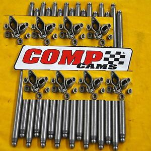 Comp Cams Rp1411 16 Bbc Magnum Rocker Arm Kit With Pushrods Big Block Chevy