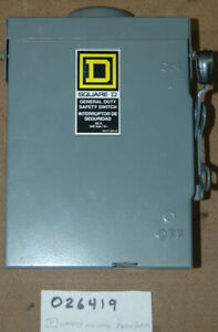 Square D 60a Safety Switch Rainproof