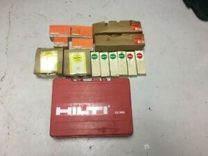 Hilti Dx350 Powder Actuated Fastener Nail Gun Kit With Case pre owned