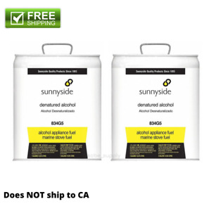 Pack Of 2 Sunnyside 834g5 Denatured Alcohol 5 Gal Solvent Fuel Shellac Thinner
