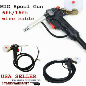 Mig Welding Spool Gun Push Pull Feeder Aluminum Torch With 2m 5m Wire Cable New