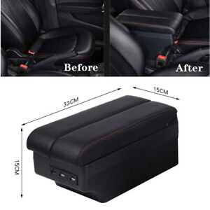 Universal Car Panel Dual Layer Storage 7 Usb Charge Central Armrest Box Cup Part