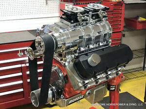 632ci Big Block Chevy Blown Efi Pro Street Engine 1 000hp Built To Order Dyno D