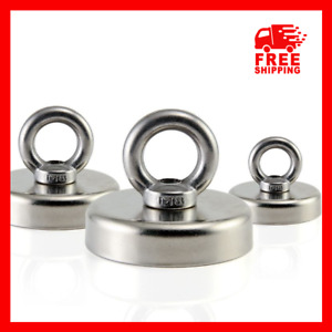 Neodymium Magnet Super Strong Powerful Salvage Hook Round Fishing Magnetic Ring