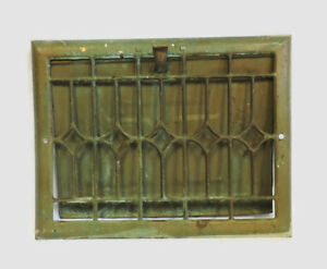 Antique Metal Heating Grate Register Vent Wall Ornate 13 75 X 10 75 B