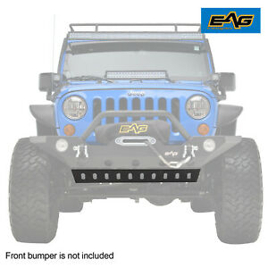 Eag Fit 07 18 Jeep Wrangler Jk Lower Skid Plate For Front Bumper Jjkfb036