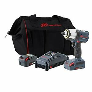 Ingersoll Rand W5133 K22 3 8 Iqv20 Impact Wrench 2 Battery Kit