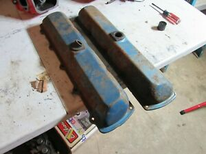 Olds 350 400 455 Valve Covers Straight With Rubber Grommets Cutlass 442