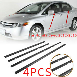 4pcs Car Weatherstrip Window Moulding Trim Seal Belt For Honda Civic 2012 2015