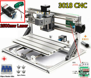 3 Axis Cnc3018 2500mw Laser Mini Router Wood Milling Engraving Machine