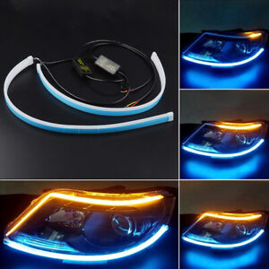 Led Car van trunk Tailgate Tail Light Turn Signal Brake Running Flow Strip Lamps