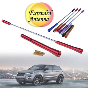 Hot Universal Car Stubby Antenna Am Fm Aerial Kit Screw Aluminum Red