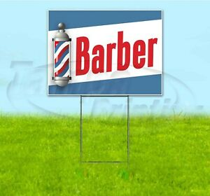 Barber 18x24 Yard Sign With Stake Corrugated Bandit Usa Business Parlor Shop