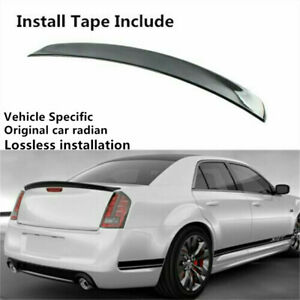 Metallic Fleck Black Rear Spoiler Wing Lip Fit For Chrysler 300 300c 300s 11 19