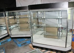 62 5 X 22 X 59 Jewelry Showcase Retail Display Case 3 Shelves Pickup
