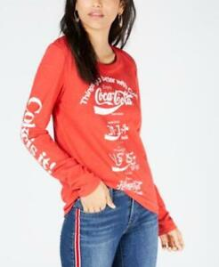 Lucky Brand Womens T Shirt COCA COLA Language Tee Red Multiple Sizes NWT $49.50