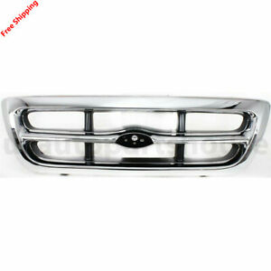 New For Ford Ranger Fits 1998 2000 Front Grille Chrome Fo1200340 F87z8200eaa