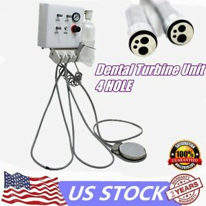 Dental Portable Turbine Unit Metal Shell Water Bottle Work With Compressor 4h Us