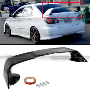 For 03 07 Toyota Corolla Evo Style Gloss Black Painted Rear Trunk Hatch Spoiler