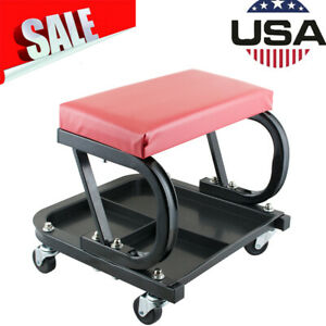 Rolling Creeper Seat Mechanic Stool Chair Repair Tool Tray Autocar Garage Shopce