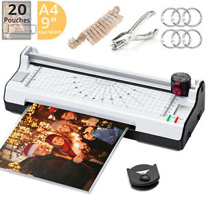 7 In 1 Thermal Laminating Machine With 20 Pouches Paper Trimmer Corner Rounder