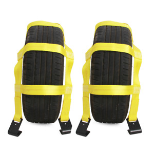 2pcs Tow Basket Tie Down Straps With Flat Hooks Capacity Of 10 000 Pound