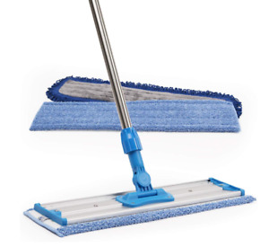 Professional Microfiber Mop Stainless Steel Handle 18in 3 Premium Mop Pads